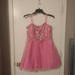 City Triangles Dresses - Strapless Pink Homecoming Dress